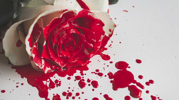 Blood red image