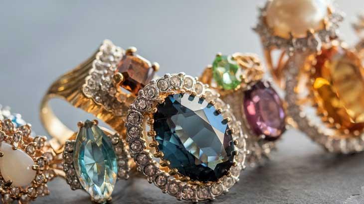Birthstone jewelry photo